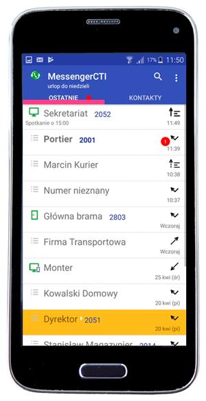 Messenger CTI Slican - aplikacja umożliwiająca komunikację w kanałach chat.
