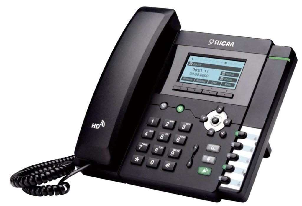 aparaty telefoniczne stacjonarne model 803TP czarny z wyświetlaczem i klawiaturą