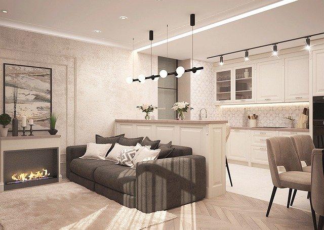 elegancki apartament, do którego można ustawić zdalne otwieranie drzwi