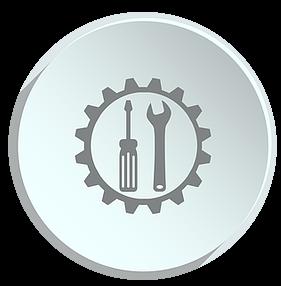logo serwis przedsawiajace śrubokręt i klucz francuski